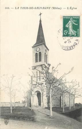 """CPA FRANCE 69 """"La Tour de Salvagny, L'église"""""""