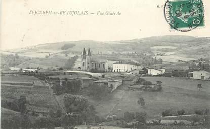 """CPA FRANCE 69 """"St Joseph en Beaujolaiis, Vue générale"""""""