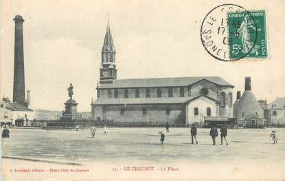 """CPA FRANCE 71 """"Le Creusot, la Place"""""""