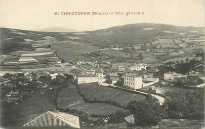 """CPA FRANCE 69 """" St Christophe, Vue générale"""""""