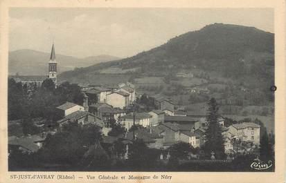 """CPA FRANCE 69 """" St Just d'Avray, Vue générale et montagne de Néry"""""""