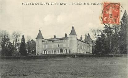 """CPA FRANCE 69 """" St Genis l'Argentière, Le Château de Valsonnières"""""""