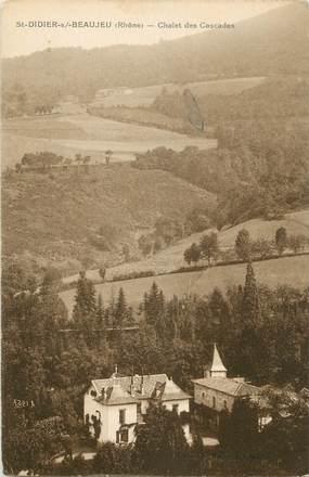 """CPA FRANCE 69 """"St Didier sur Beaujeu, Chalet des Cascades"""""""