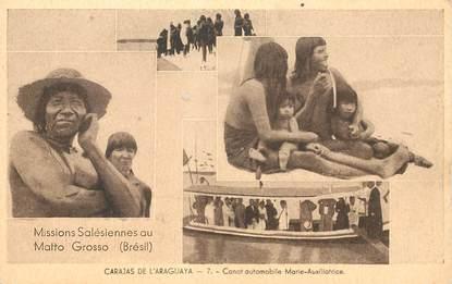 "CPA BRESIL ""Canot automobile, Missions salésiennes au Matto Grosso"""