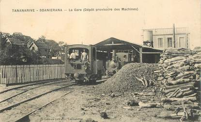 "CPA MADAGASCAR ""Tananarive, la Gare"" / TRAIN"