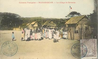 """CPA MADAGASCAR """"Le Village de Sahasoa"""""""