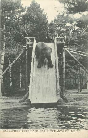 """CPA FRANCE 94 """" Nogent, Exposition coloniale, Les éléphants de l'Inde"""""""