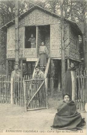 """CPA FRANCE 94 """" Nogent, Exposition coloniale de 1907, Case et types du Haut Tonkin"""""""