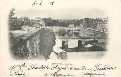 """/ CPA FRANCE 53 """"Mayenne, les quais"""""""