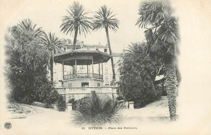 """CPA FRANCE 83 """" Hyères, Place des Palmiers"""""""