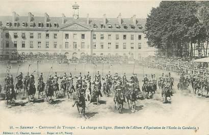 """CPA FRANCE 49 """" Saumur, Carrousel de troupe"""""""