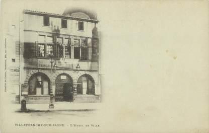 """CPA FRANCE 69 """" Villefranche sur Saône, L'Hôtel de Ville"""""""