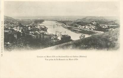"""CPA FRANCE 69 """" Couzon au Mont d'Or et Rochetaillée sur Saône"""""""
