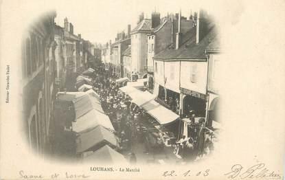 """CPA FRANCE 71 """" Louhans, Le marché"""""""