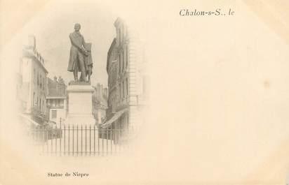 """CPA FRANCE 71 """" Chalon sur Saône, Statue de Niepce"""""""