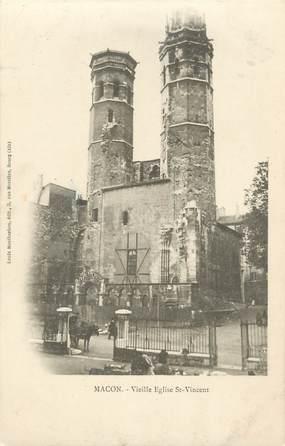 """CPA FRANCE 71 """" Macon, Vieille église St Vincent"""""""