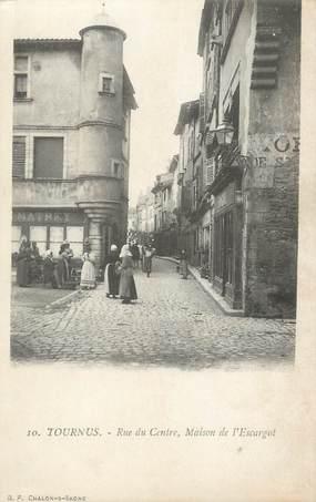 """CPA FRANCE 71 """" Tournus, Rue du centre Maison de l'Escargot"""""""