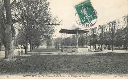 """CPA FRANCE 89 """"Tonnerre, la Promenade du Pâtis et le Kiosque de Musique"""""""