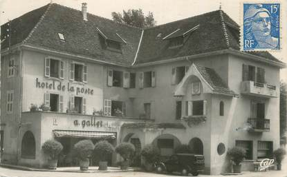 """CPSM FRANCE 38 """" Pont de Beauvoisin, Hôtel de la Poste"""""""