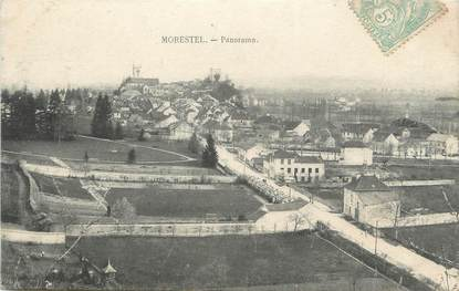 """CPA FRANCE 38 """" Morestel, Panorama"""""""