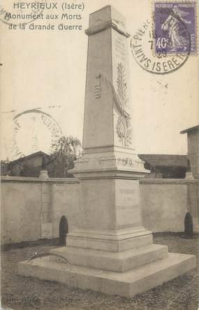 "CPA FRANCE 38 "" Heyrieux, Le monument aux morts"""
