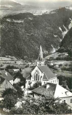 """CPSM FRANCE 38 """" Allemont, L'église et les Petites Rousses"""""""