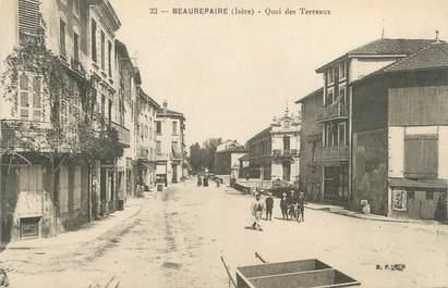 """CPA FRANCE 38 """" Beaurepaire,, Quai des Terreaux"""""""