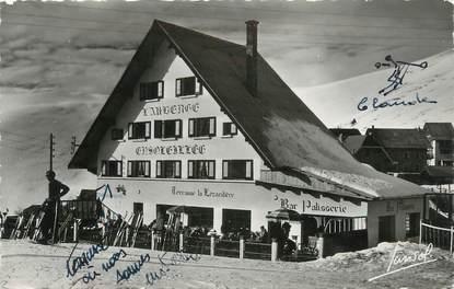 """CPSM FRANCE 38 """" L'Alpe d'Huez, L'Auberge Ensoleillée"""""""