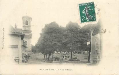 """CPA FRANCE 38 """" Les Avenières, La Place de l'Eglise"""""""