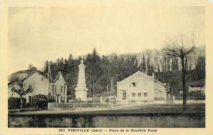 """CPSM FRANCE 38 """"Viriville, Place de la Nouvelle Poste"""""""