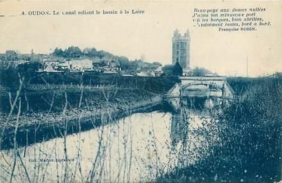 """CPA FRANCE 44 """"Oudon, le canal reliant le bassin à la Loire"""""""