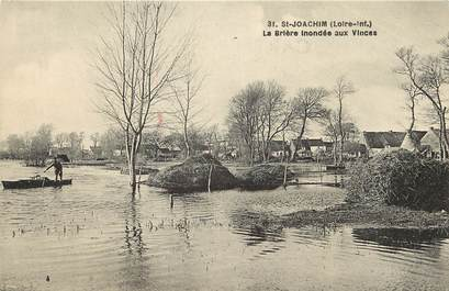 """CPA FRANCE 44 """"Saint Joachim, La Brière inondée aux Vinces"""""""