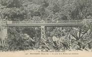 """Guadeloupe CPA GUADELOUPE illustrée """"Matouba, le pont de la Rivière aux écrevisses"""""""