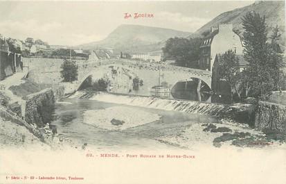 """/ CPA FRANCE 48 """"Mende, pont Romain de Notre Dame"""""""