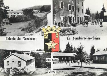 """CPSM FRANCE 42 """" La Souchère les Bains, Colonie de Vacances de la Ville de Firminy"""""""