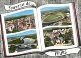 """42 Loire CPSM FRANCE 42 """" Feurs, Vues"""""""
