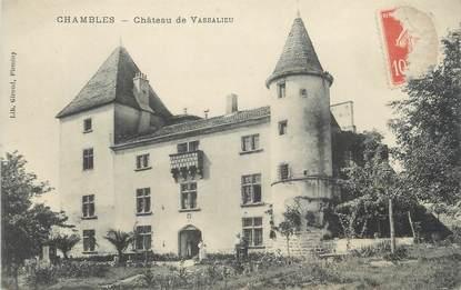 """CPA FRANCE 42 """"Chambles, Château de Vassalieu"""""""