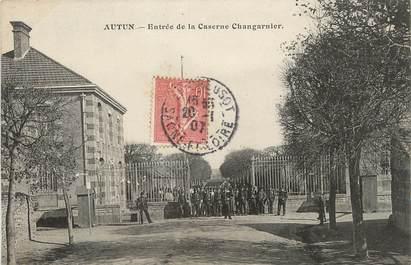 "/ CPA FRANCE 71 ""Entrée de la caserne Changarnier"""