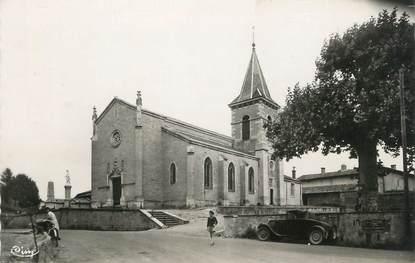 """CPSM FRANCE 42 """"Mizérieux, L'église et la place"""""""