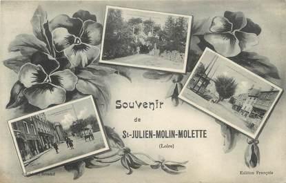 """CPA FRANCE 42 """" St Julien - Molin - Molette, Vues"""""""