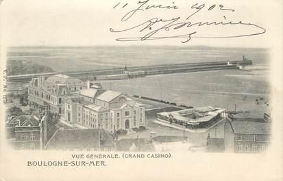 """CPA FRANCE 62 """" Boulogne sur Mer, Vue générale et le Grand Casino"""""""