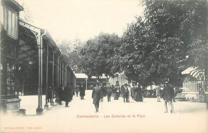 """CPA FRANCE 88 """" Contrexéville, Les galeries et le parc"""""""