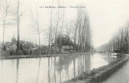 "/ CPA FRANCE 18 ""Herry, vue sur le canal"""