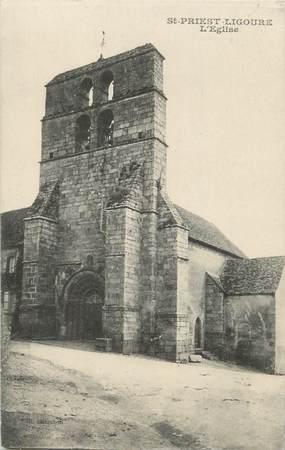 """CPA FRANCE 87 """" St Priest Ligoure, L'église"""""""