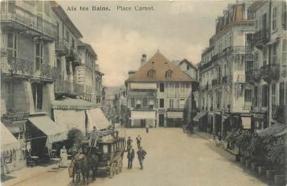 """CPA FRANCE 73 """" Aix les Bains, La Place Carnot"""""""