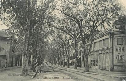 """CPA FRANCE 73 """" Aix les Bains, Avenue du Lac"""""""