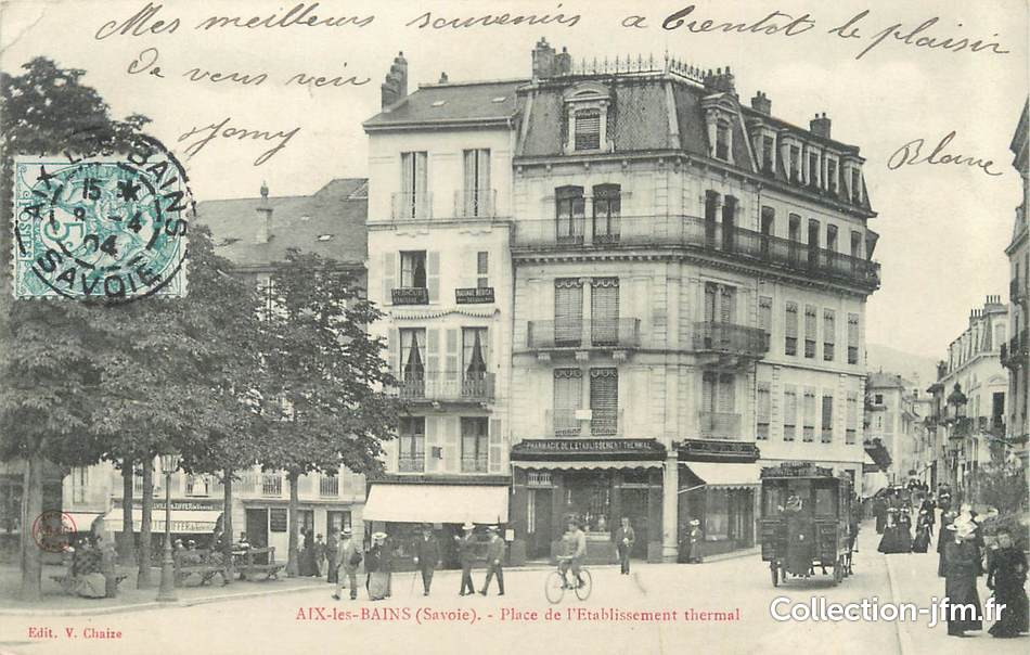 France, Aix-Les-Bains, Etablissement Thermal Arc de