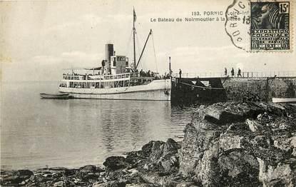 """CPA FRANCE 44 """"Pornic, le bateau de Noirmoutier à la Jetée"""""""