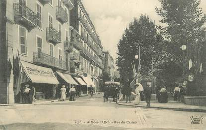 "CPA FRANCE 73 "" Aix les Bains, Rue du Casino"""