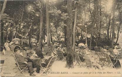 """CPA FRANCE 73 """" Aix les Bains, Concert en plein air à la Villa des Fleurs"""""""
